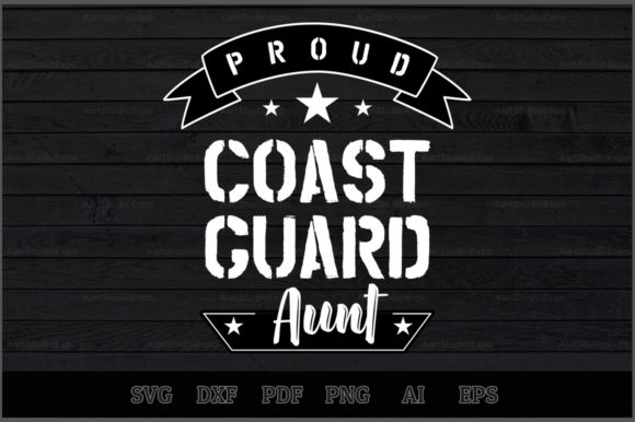 Download Free Proud Coast Guard Aunt Svg Design Graphic By Aartstudioexpo for Cricut Explore, Silhouette and other cutting machines.