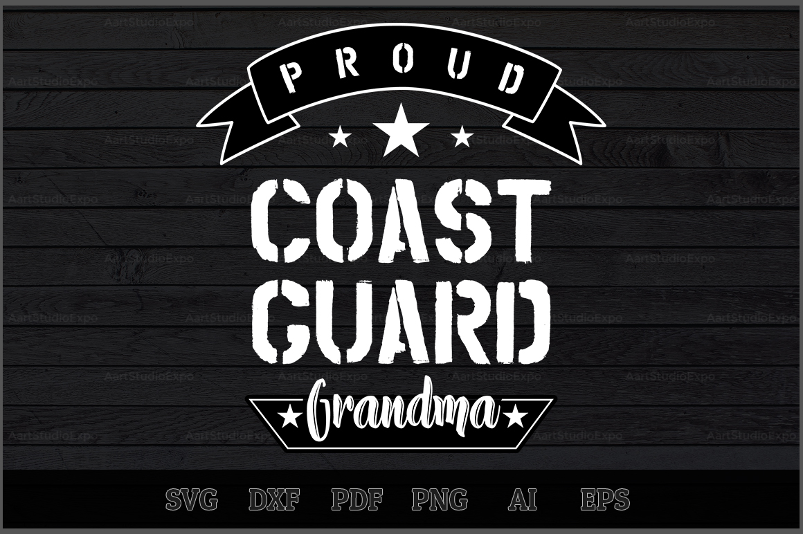 Download Free Proud Coast Guard Grandma Svg Design Graphic By Aartstudioexpo for Cricut Explore, Silhouette and other cutting machines.