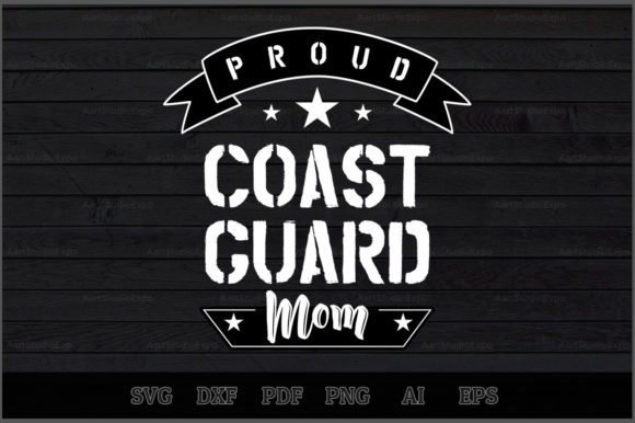Download Free Proud Coast Guard Mom Svg Design Graphic By Aartstudioexpo for Cricut Explore, Silhouette and other cutting machines.