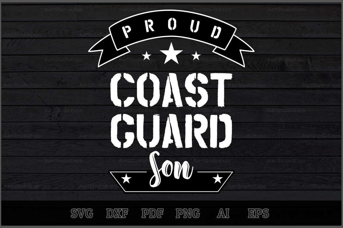 Download Free Proud Coast Guard Son Svg Design Grafico Por Aartstudioexpo for Cricut Explore, Silhouette and other cutting machines.