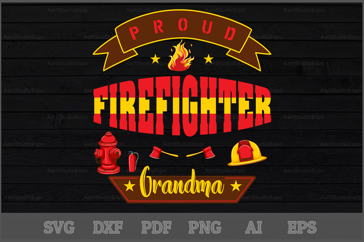 Download Free Proud Firefighter Grandma Svg Design Graphic By Aartstudioexpo for Cricut Explore, Silhouette and other cutting machines.