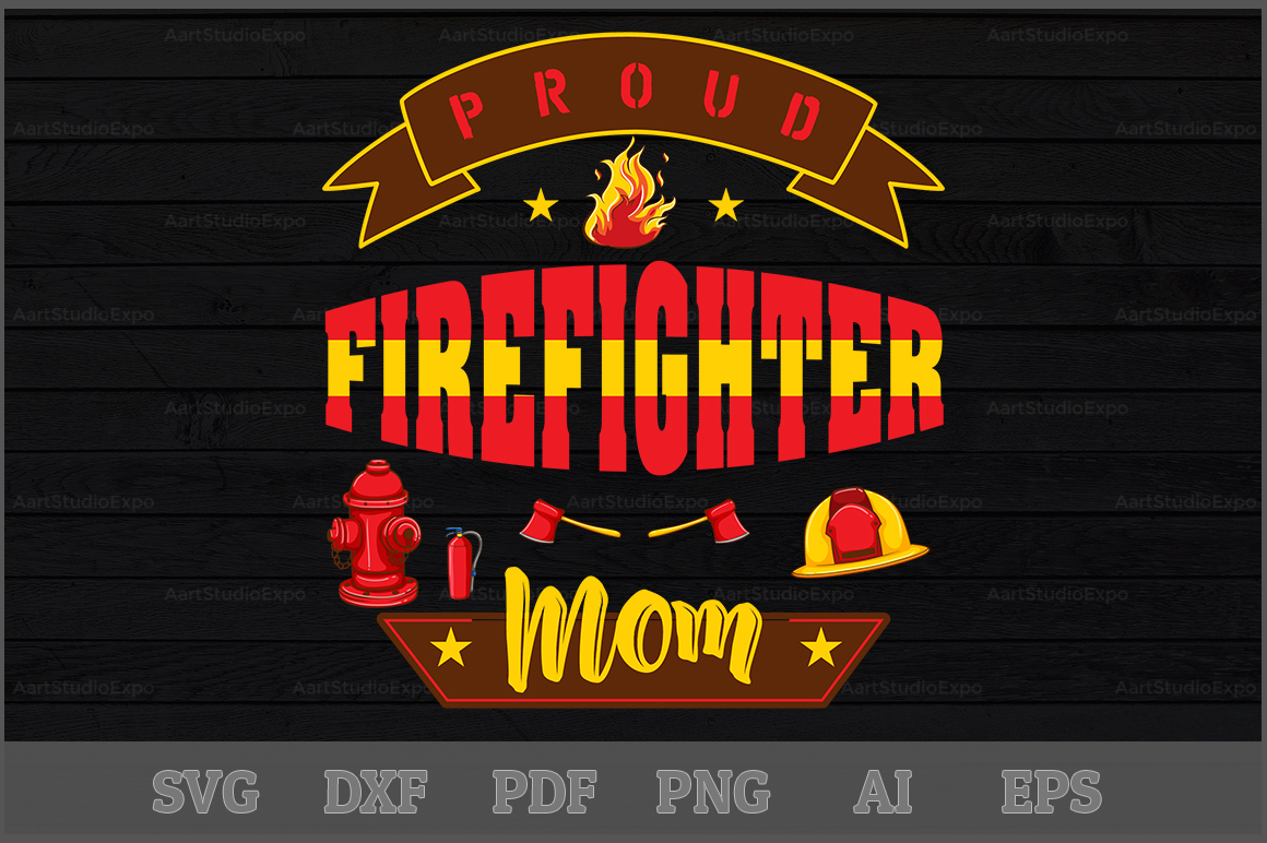 Download Free Proud Firefighter Mom Svg Design Graphic By Aartstudioexpo for Cricut Explore, Silhouette and other cutting machines.