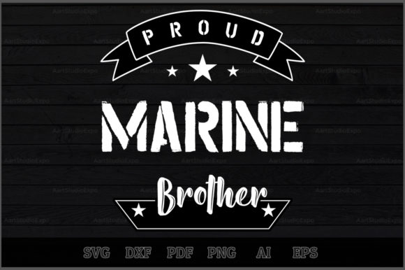 Download Free Proud Marine Brother Svg Design Graphic By Aartstudioexpo for Cricut Explore, Silhouette and other cutting machines.