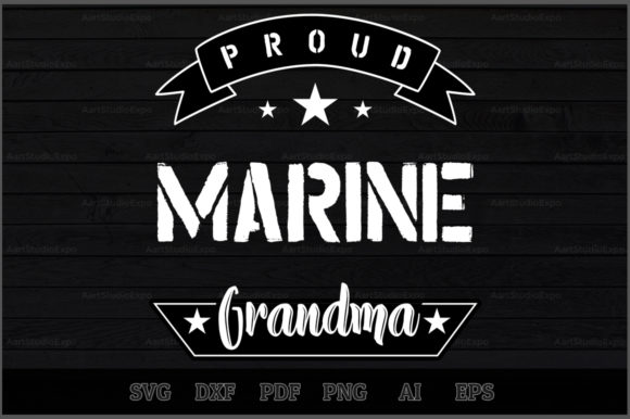Download Free Proud Marine Grandma Svg Design Graphic By Aartstudioexpo for Cricut Explore, Silhouette and other cutting machines.
