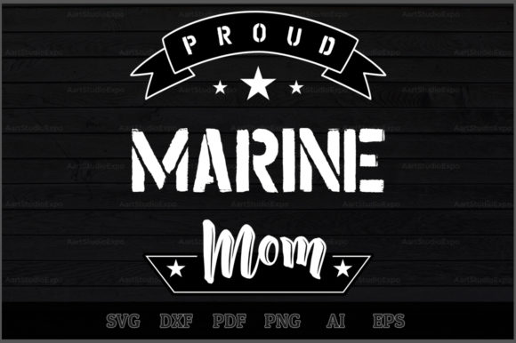 Download Free Proud Marine Mom Svg Design Graphic By Aartstudioexpo Creative for Cricut Explore, Silhouette and other cutting machines.