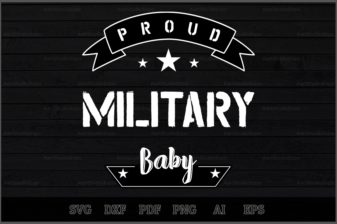 Download Free Proud Military Baby Svg Design Graphic By Aartstudioexpo for Cricut Explore, Silhouette and other cutting machines.