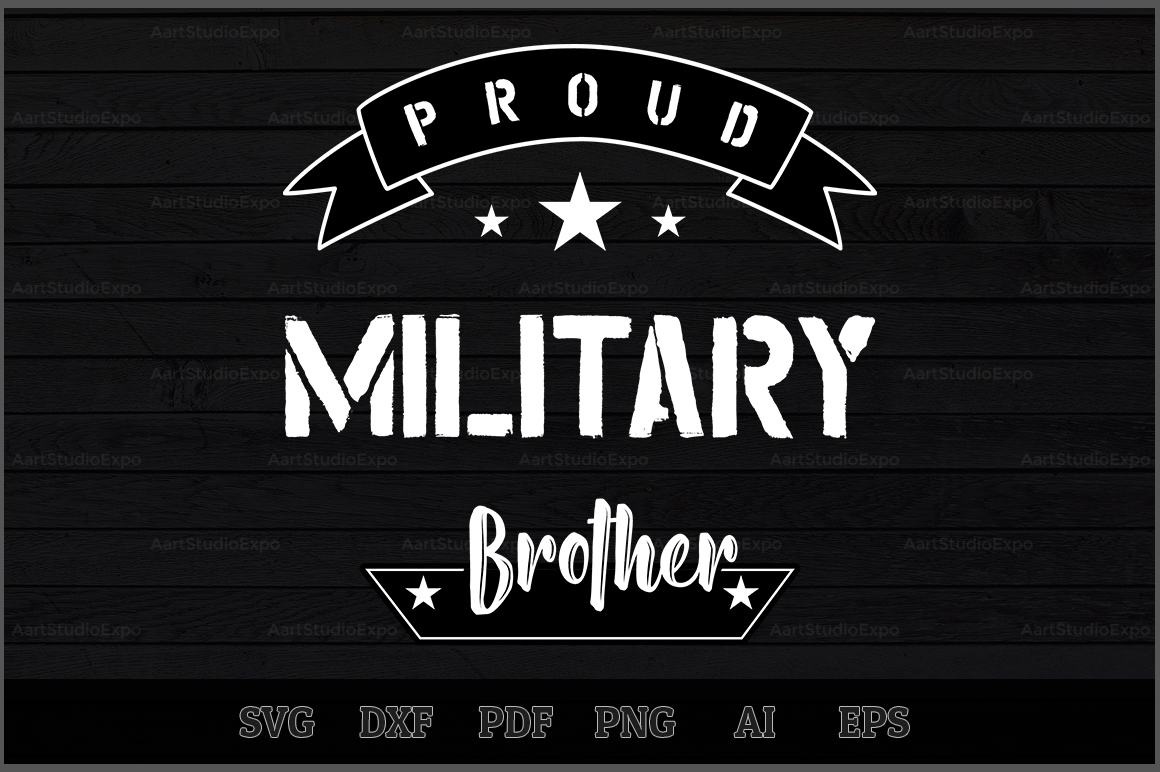 Download Free Proud Military Brother Svg Design Graphic By Aartstudioexpo for Cricut Explore, Silhouette and other cutting machines.