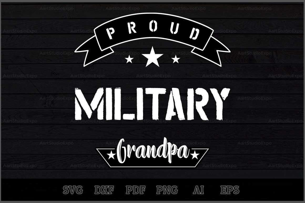 Download Free Proud Military Grandpa Svg Design Graphic By Aartstudioexpo for Cricut Explore, Silhouette and other cutting machines.