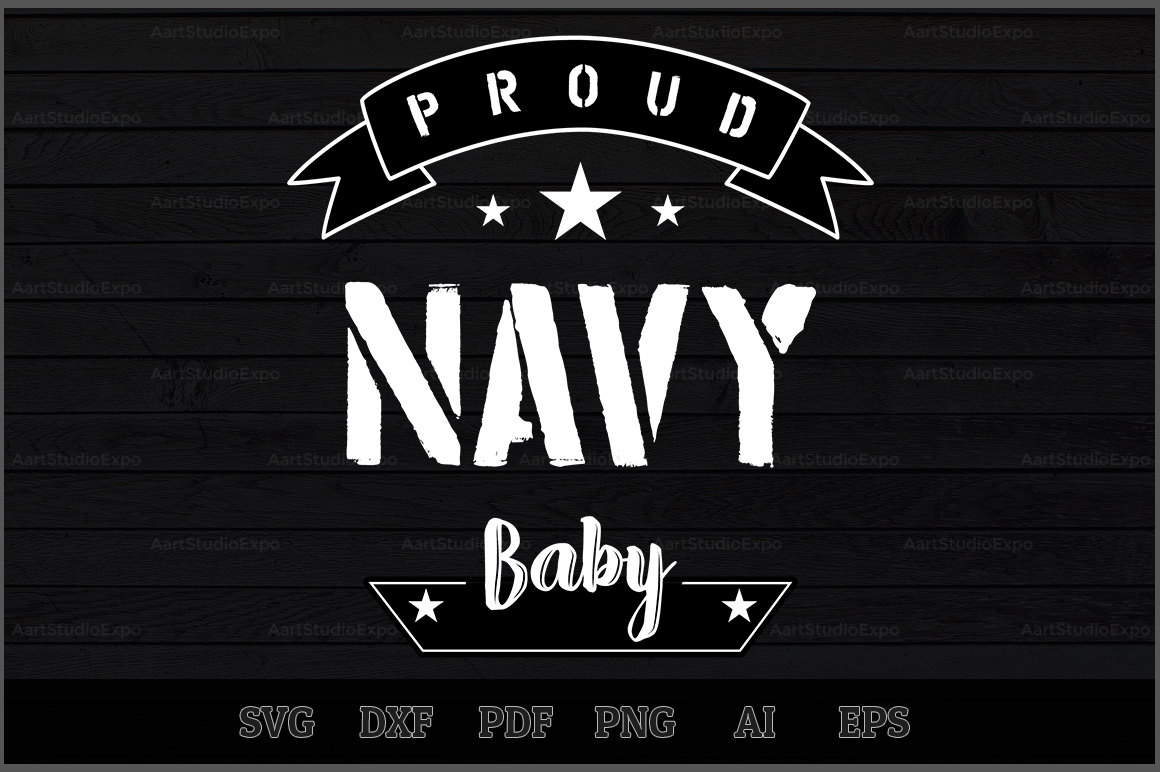 Download Free Proud Navy Baby Svg Design Graphic By Aartstudioexpo Creative for Cricut Explore, Silhouette and other cutting machines.