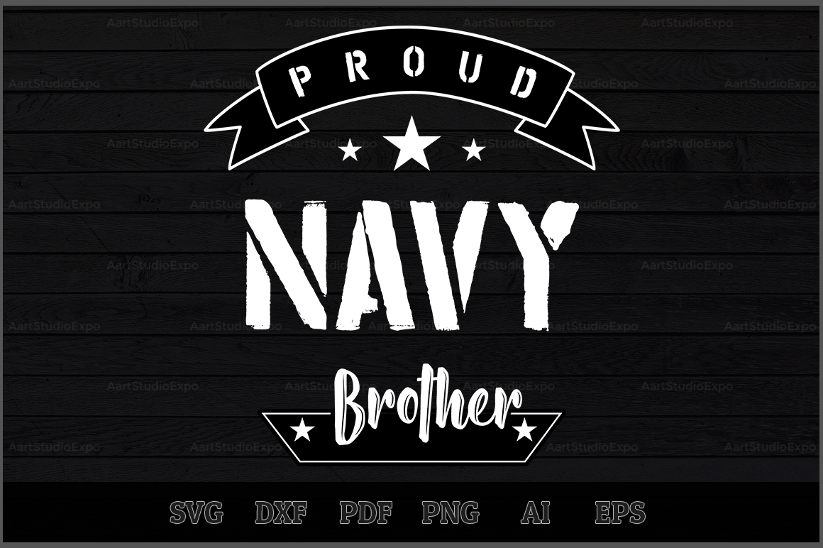 Download Free Proud Navy Brother Svg Design Graphic By Aartstudioexpo for Cricut Explore, Silhouette and other cutting machines.