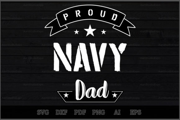 Download Free Proud Navy Dad Svg Design Graphic By Aartstudioexpo Creative for Cricut Explore, Silhouette and other cutting machines.
