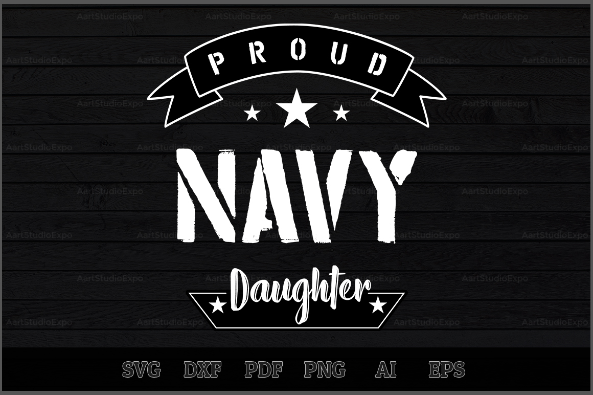 Download Free Proud Navy Daughter Svg Design Graphic By Aartstudioexpo for Cricut Explore, Silhouette and other cutting machines.