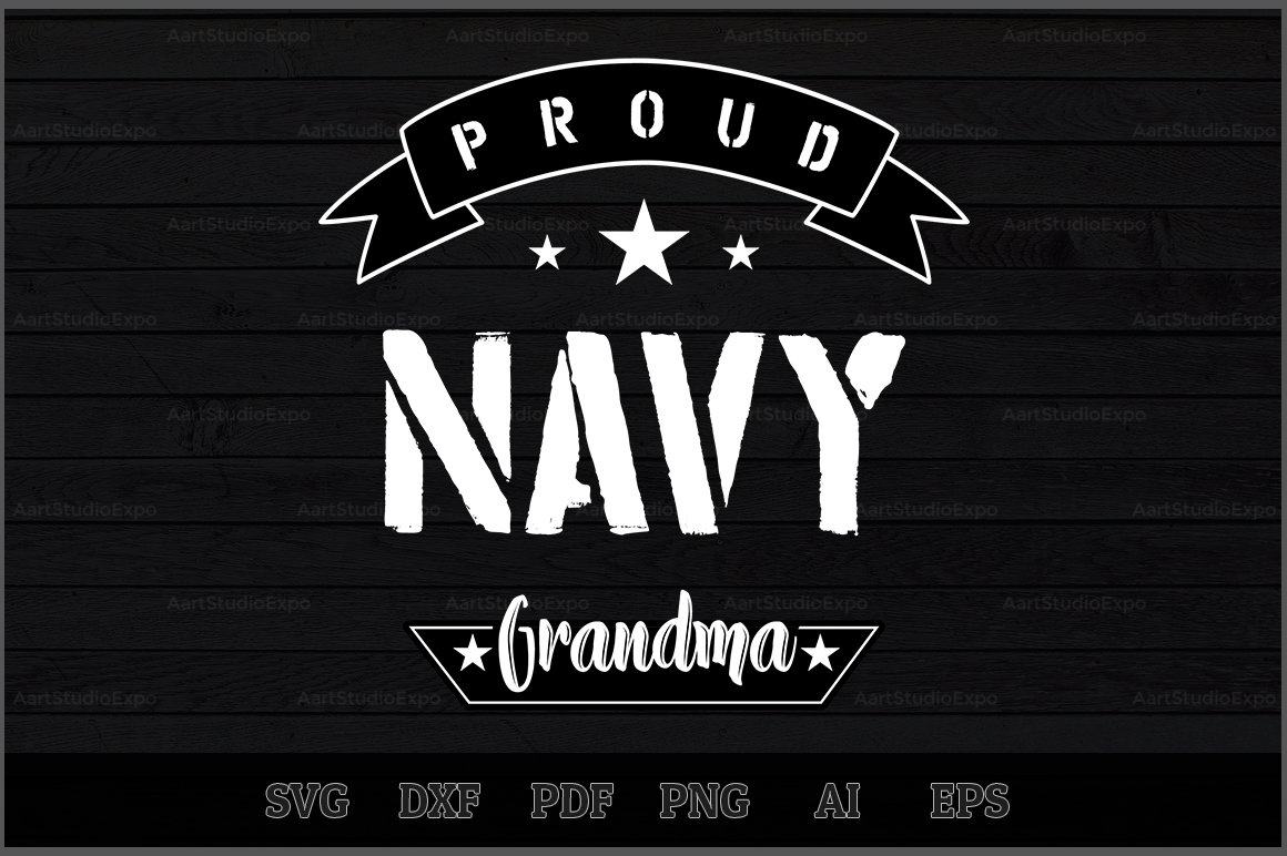 Download Free Proud Navy Grandma Svg Design Graphic By Aartstudioexpo for Cricut Explore, Silhouette and other cutting machines.