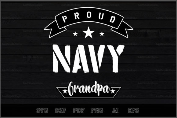 Download Free Proud Navy Grandpa Svg Design Graphic By Aartstudioexpo for Cricut Explore, Silhouette and other cutting machines.