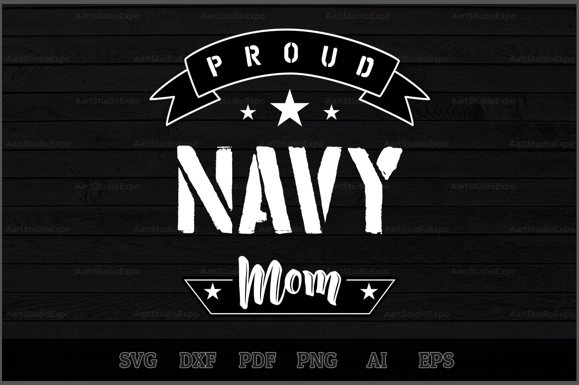 Download Free Proud Navy Mom Svg Design Graphic By Aartstudioexpo Creative for Cricut Explore, Silhouette and other cutting machines.