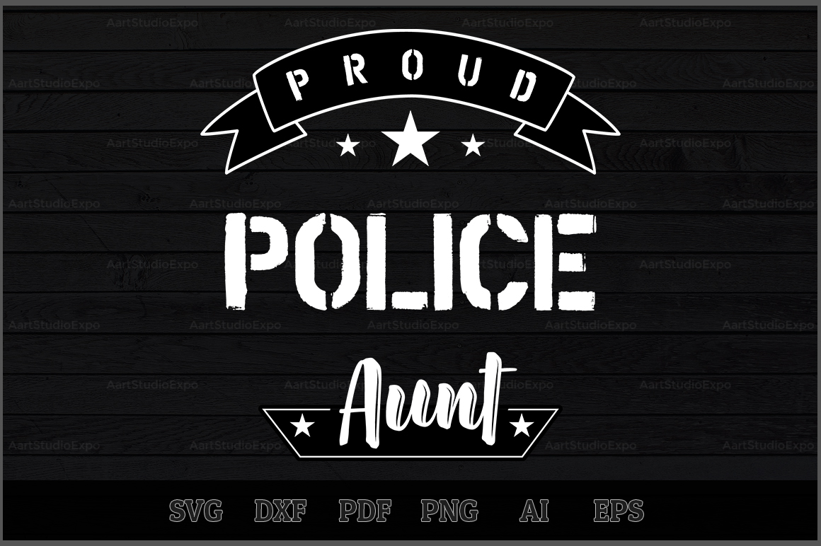 Download Free Proud Police Aunt Svg Design Graphic By Aartstudioexpo for Cricut Explore, Silhouette and other cutting machines.