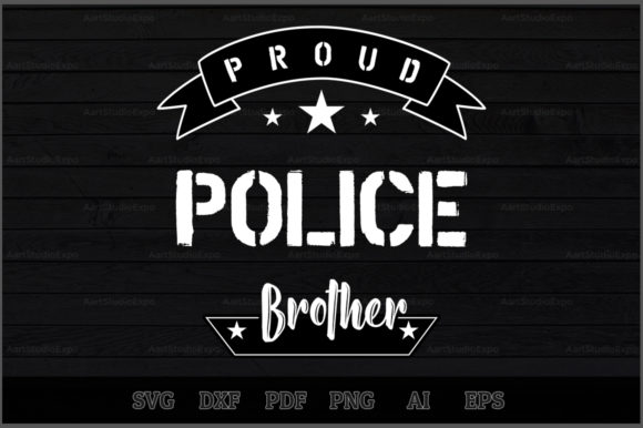 Download Free Proud Police Brother Svg Design Graphic By Aartstudioexpo for Cricut Explore, Silhouette and other cutting machines.