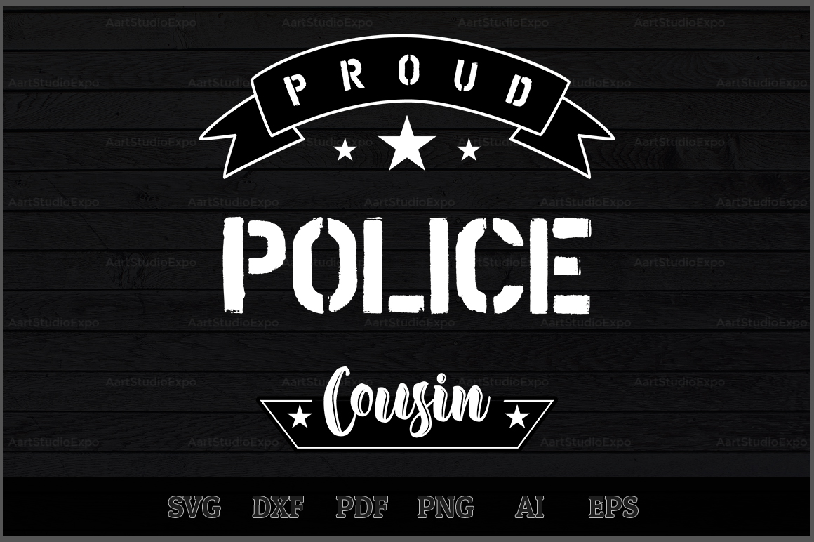 Download Free Proud Police Cousin Svg Design Graphic By Aartstudioexpo for Cricut Explore, Silhouette and other cutting machines.