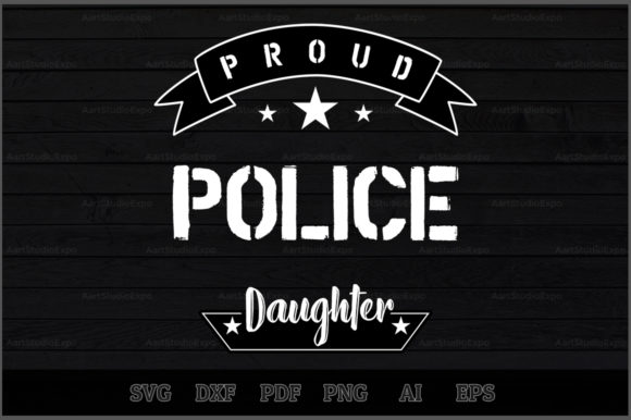 Download Free Proud Police Daughter Svg Design Graphic By Aartstudioexpo for Cricut Explore, Silhouette and other cutting machines.