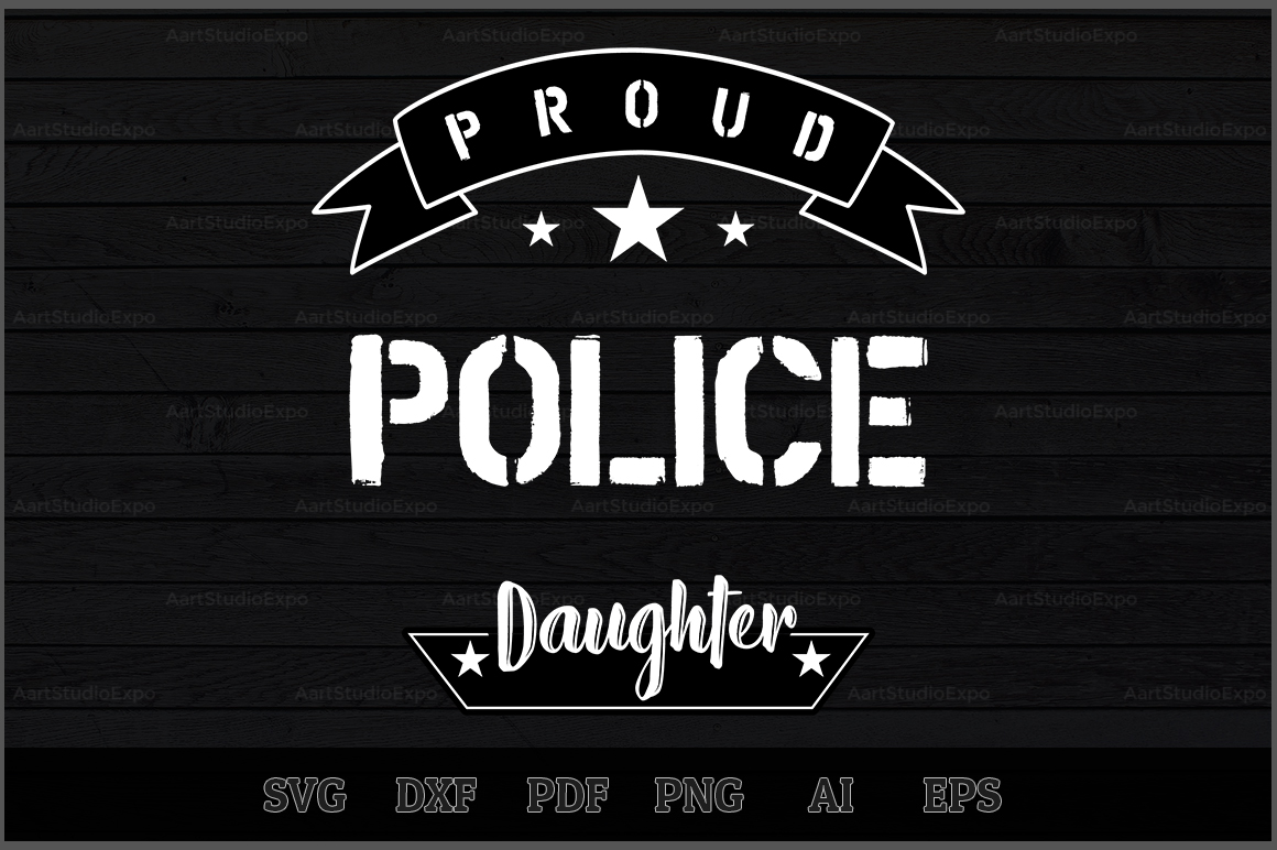 Download Free Proud Police Daughter Svg Design Graphic By Aartstudioexpo SVG Cut Files