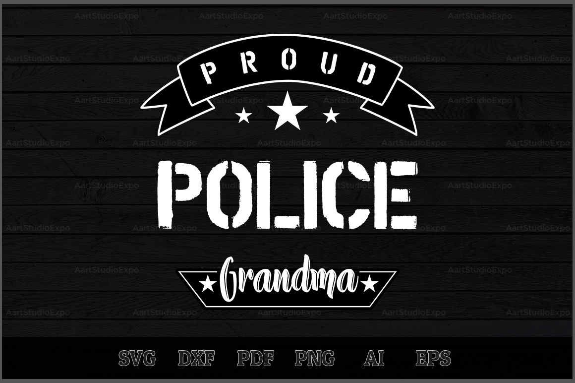 Download Free Proud Police Grandma Svg Design Graphic By Aartstudioexpo for Cricut Explore, Silhouette and other cutting machines.