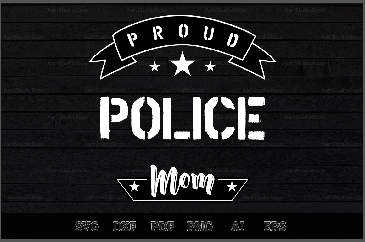 Download Free Proud Police Mom Svg Design Graphic By Aartstudioexpo Creative for Cricut Explore, Silhouette and other cutting machines.