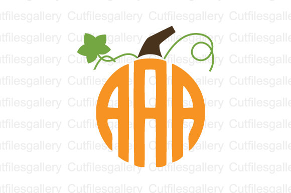 Download Free Pumpkin Stem Monogram Svg Graphic By Cutfilesgallery Creative for Cricut Explore, Silhouette and other cutting machines.