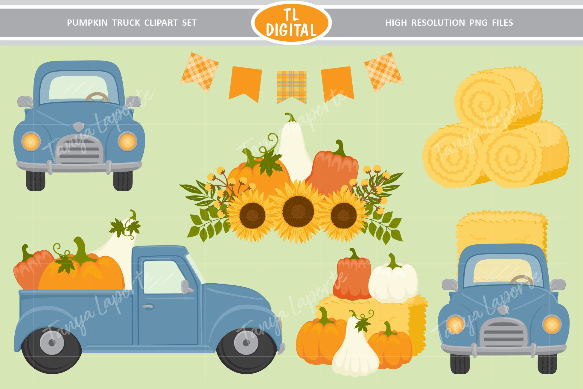 Download Free Pumpkin Truck Clipart Autumn Graphics Graphic By Tl Digital for Cricut Explore, Silhouette and other cutting machines.