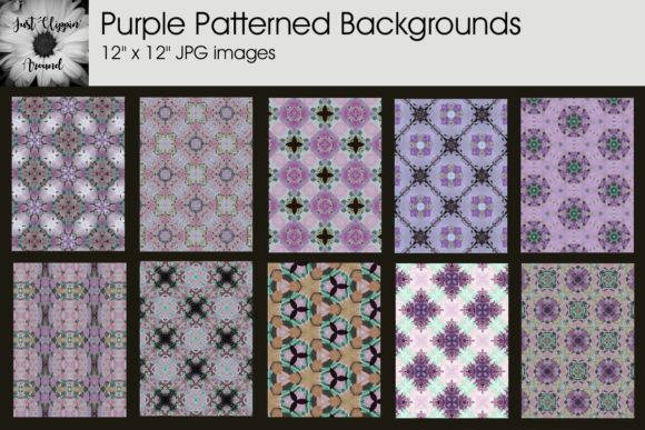 Purple Patterned Backgrounds Graphic Backgrounds By justclippinaround