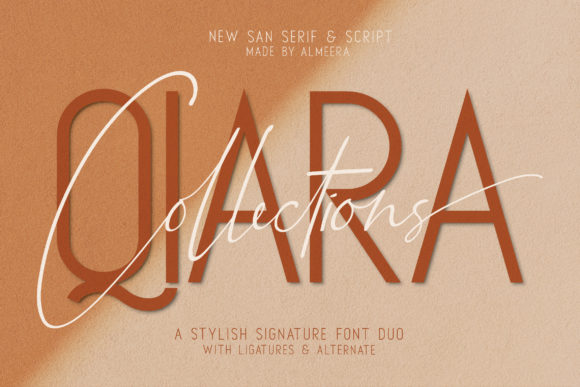 Print on Demand: Qiara Duo Script & Handwritten Font By Almeera Studio