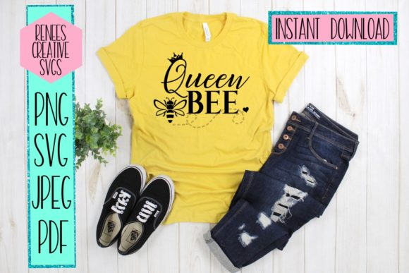 Queen Bee Graphic By Reneescreativesvgs Creative Fabrica