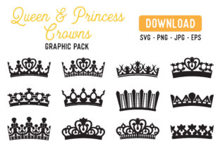 Queen Crowns Princess Crowns Graphic By The Gradient Fox