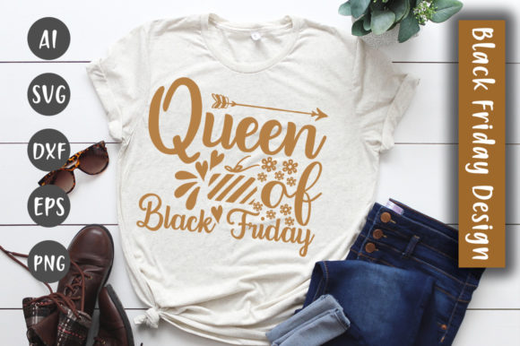 Print on Demand: Queen of Black Friday SVG Design Graphic Crafts By CreativeArt