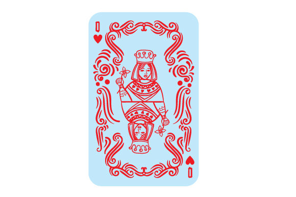Queen of Hearts Games Craft Cut File By Creative Fabrica Crafts