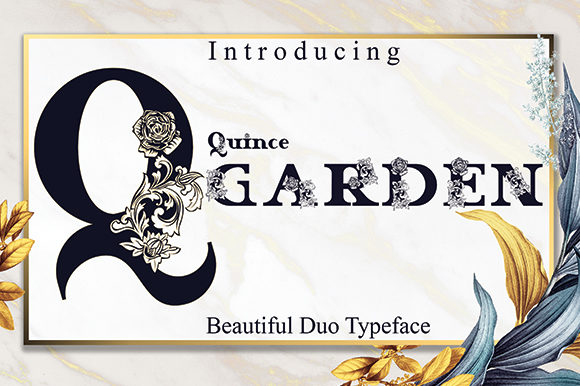 Print on Demand: Quince Garden Display Font By Black Lotus