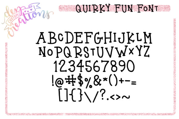 Print on Demand: Quirky Fun Serif Font By Dez Custom Creations - Image 11