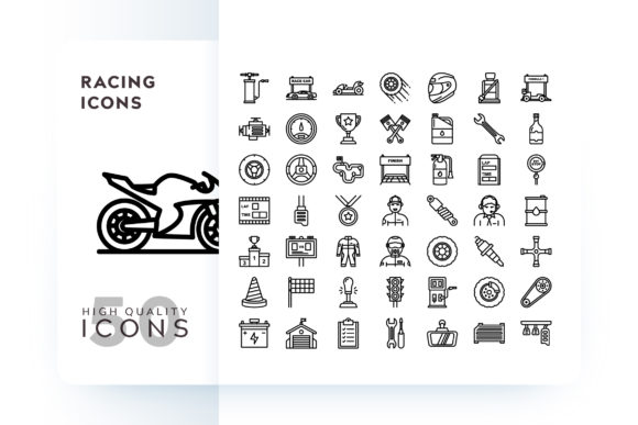 Print on Demand: RACING ICON Graphic Icons By Goodware.Std