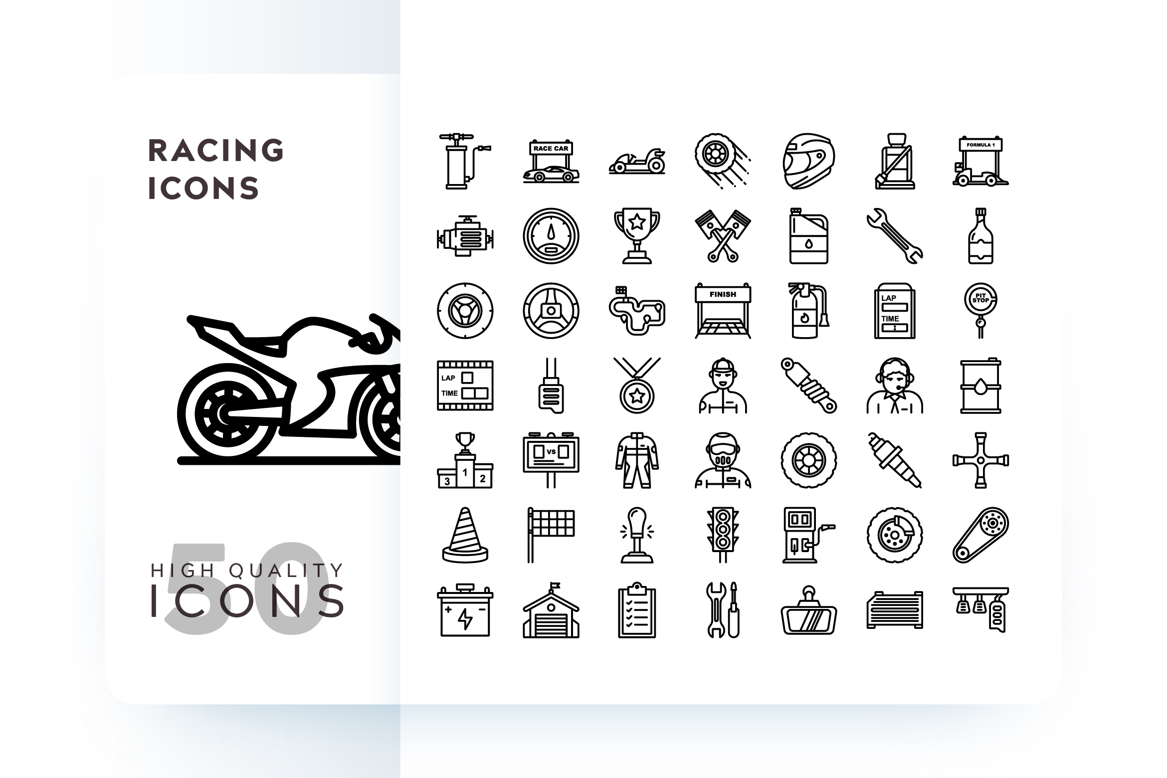 Download Free Racing Icon Graphic By Goodware Std Creative Fabrica for Cricut Explore, Silhouette and other cutting machines.