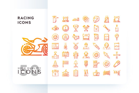 RACING ICON Graphic Icons By Goodware.Std - Image 1