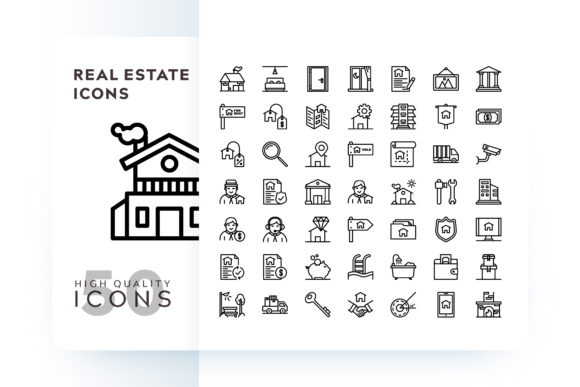 Print on Demand: Real Estate Icon Graphic Icons By Goodware.Std