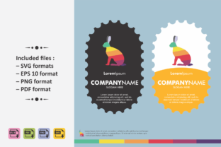 Download Free Rabbit Logo Template Colorful Graphic By Ahsancomp Studio for Cricut Explore, Silhouette and other cutting machines.