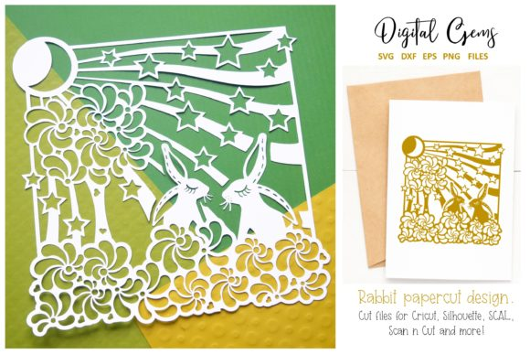 Rabbit Papercut Design Graphic By Digital Gems
