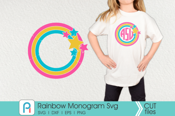 Rainbow Monogram Graphic Crafts By Pinoyartkreatib