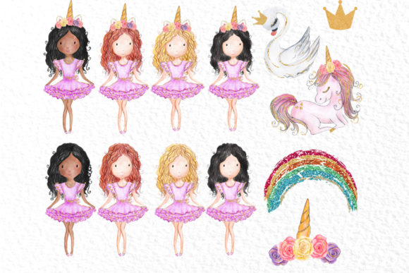 Download Free Rainbow Unicorn Clipart Girls Clipart Graphic By Vivastarkids for Cricut Explore, Silhouette and other cutting machines.