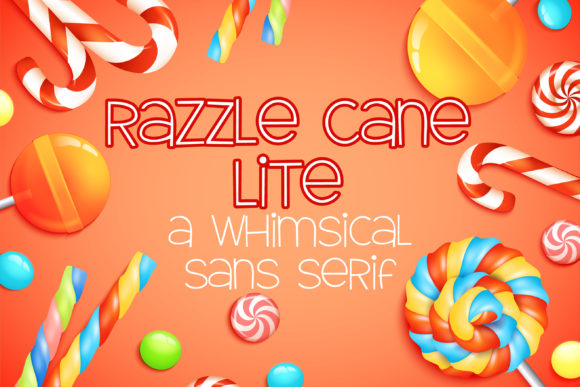 Print on Demand: Razzle Cane Lite Script & Handwritten Font By Illustration Ink