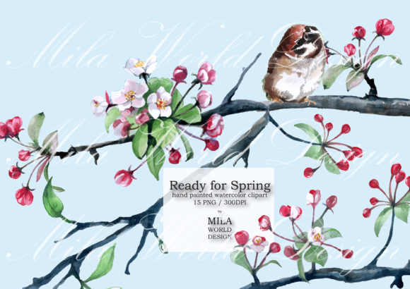 Ready for Spring Watercolor Clip Art (Graphic) by ...
