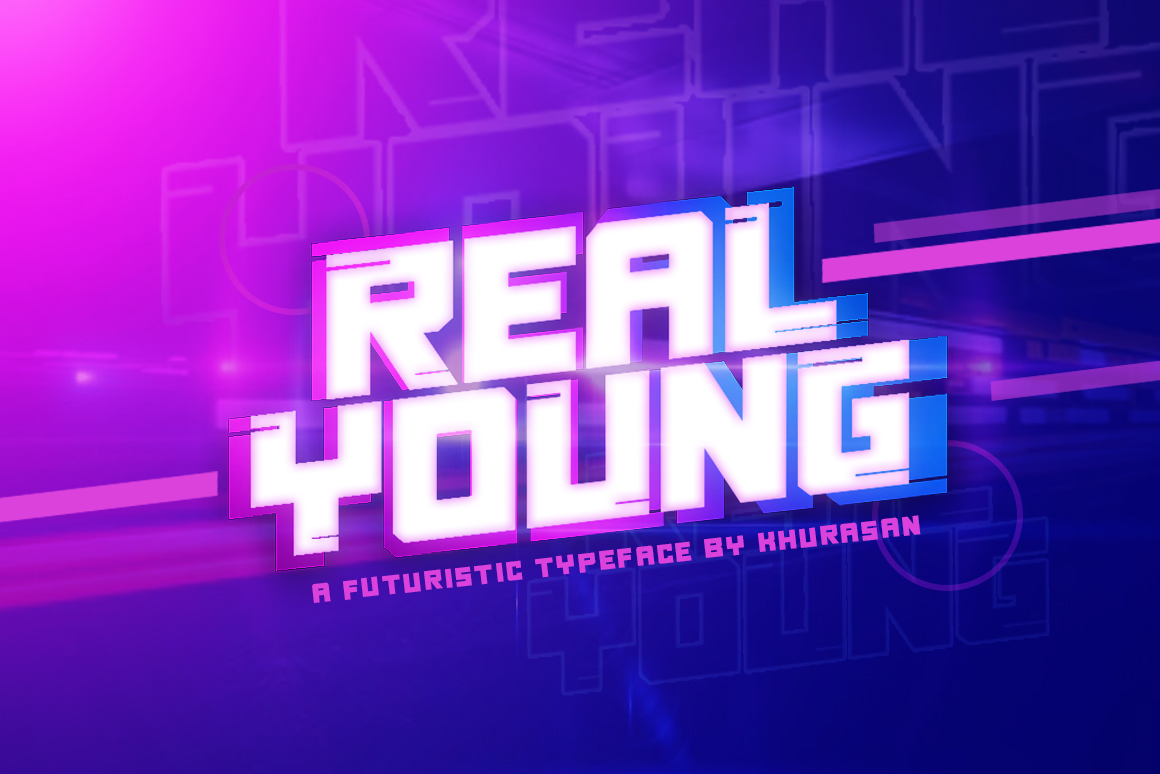 Download Free Real Young Font By Khurasan Creative Fabrica for Cricut Explore, Silhouette and other cutting machines.