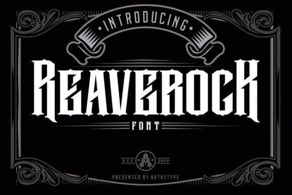 Print on Demand: Reaverock Display Font By Arthy
