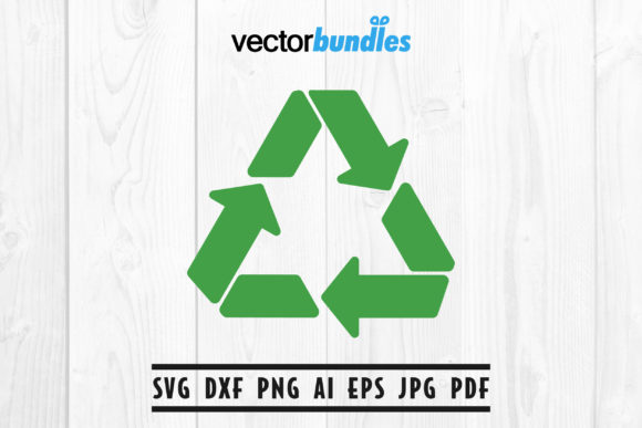 Download Free Recycle Symbol Clip Art Graphic By Vectorbundles Creative Fabrica for Cricut Explore, Silhouette and other cutting machines.