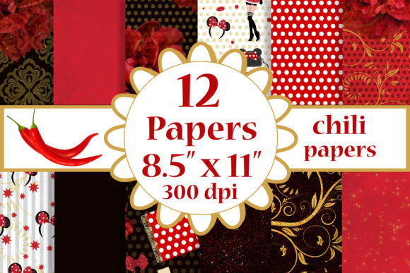 Red Paper Pack, Background,8.5 X 11 Graphic Crafts By ChiliPapers